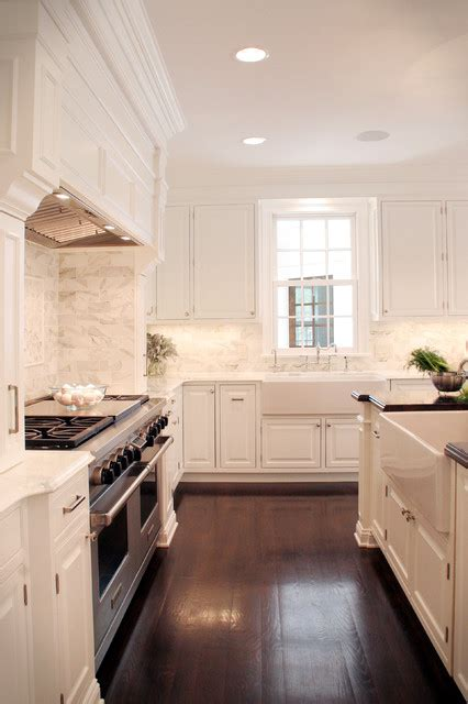 White Kitchen Flooring Ideas - classic white kitchen traditional kitchen cleveland
