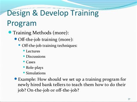 design application classes training cycle