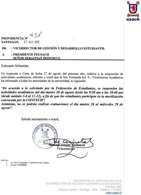 carta formal qe es ejemplo de carta formal en espanol images