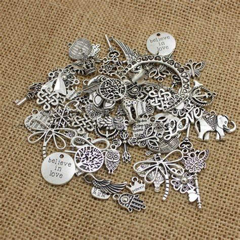 how to make metal jewelry charms 100pcs lot mixed antique silver plated european bracelets