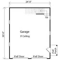 Size 2 Car Garage Plan W2233sl Two Car Garage With Loft Storage E