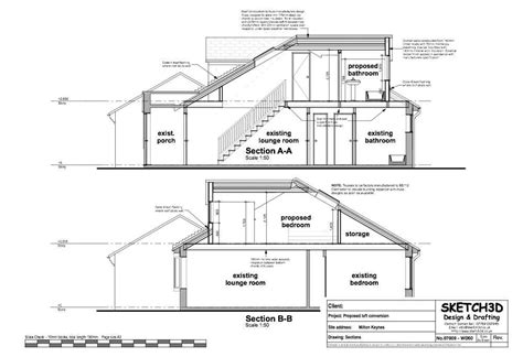 loft conversion floor plans exle loft conversion plan 4