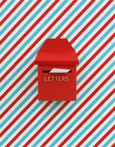 How To Make A Paper Post Box - diy mini post box mail on behance