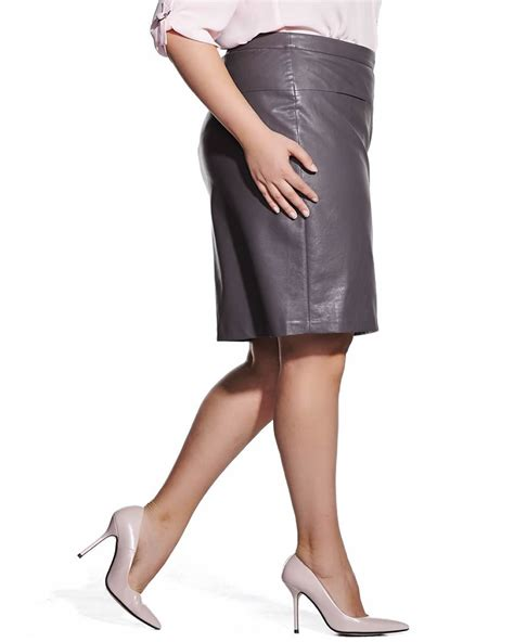 plus size faux leather skirt plus sizes reitmans