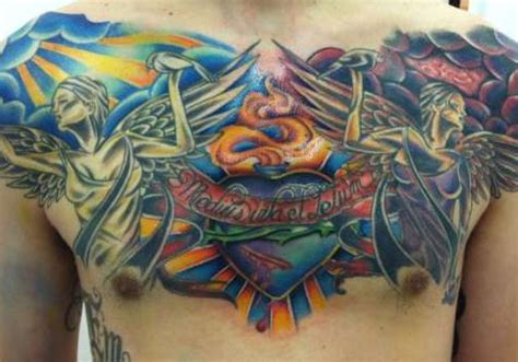 angel tattoo chest piece 30 holy angel tattoos creativefan