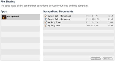 Garageband To Itunes Garageband For Ios Backing Up Your Songs Apple Support