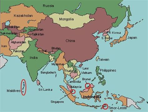 map of asia with countries labeled learn something new