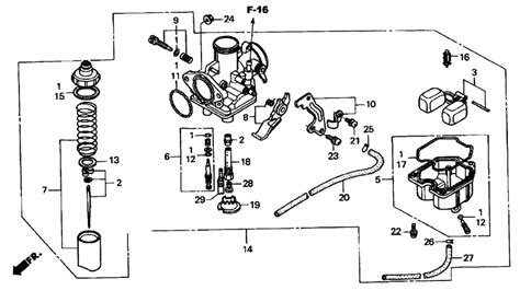honda fourtrax 250 carburetor diagram 86 honda 250 fourtrax carb diagram wiring diagram and