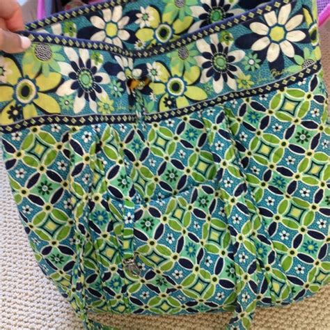 blue pattern vera bradley 51 off vera bradley handbags green and blue pattern