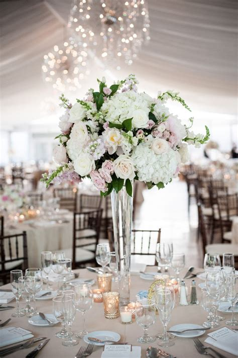 tall centerpieces at galleria marchetti with blush white