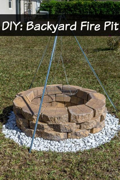 diy build a backyard pit