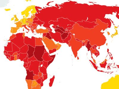 most corrupt countries in the world map map of the day these are the most corrupt countries in