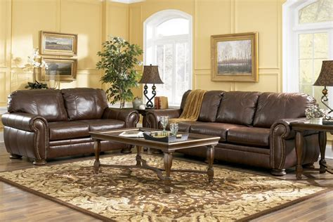 ashley furniture leather sofa set ashley leather living room furniture