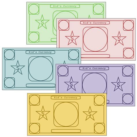 money templates free play money to customize printables site