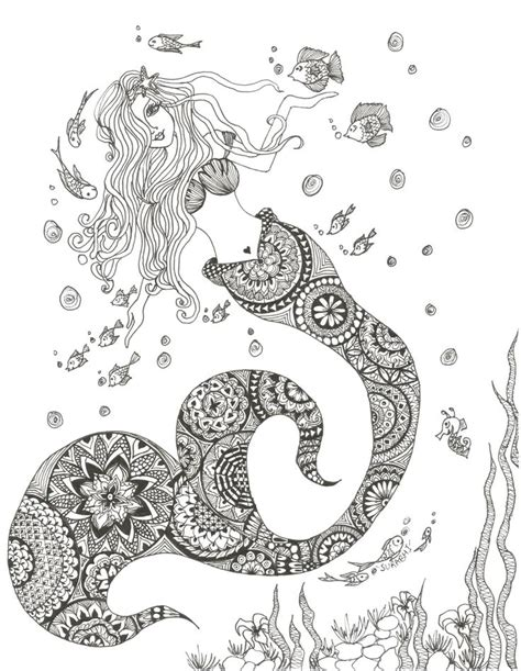 underwater mermaid coloring pages 929 best images about adult colouring under the sea