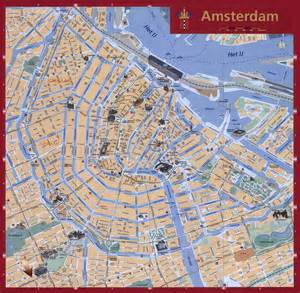Tourist map of amsterdam city amsterdam city detailed tourist map