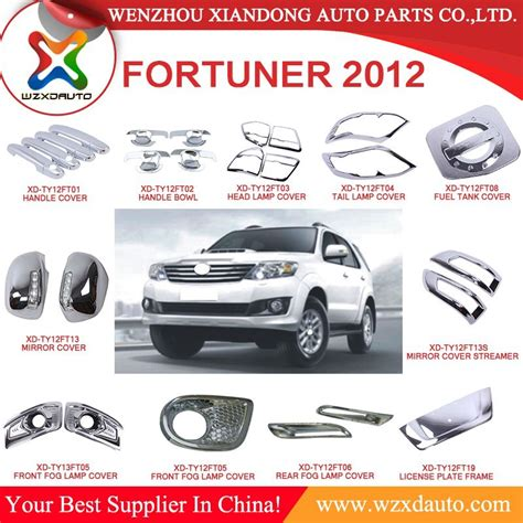 Toyota Auto Parts 2009 2012 Toyota Fortuner Auto Agtermarket Parts Car