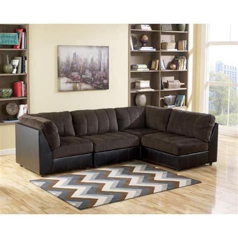 nebraska furniture mart sectionals hobokin 4 piece modular sectional in chocolate nebraska