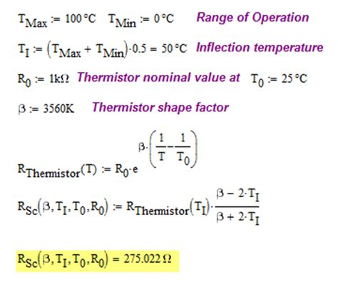 ntc thermistor calculator thermistor mathematics math encounters