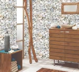 Sol Vinyle Salle De Bain #1: papier-peint-salle-de-bain-vinyle-motif-galet-castorama.jpg