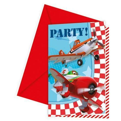 buitenspeelgoed feestje bol disney planes feestje uitnodigingen 6 stuks
