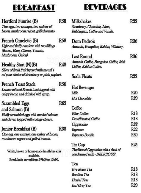 country house menu the hertford country house restaurant menu zomato sa