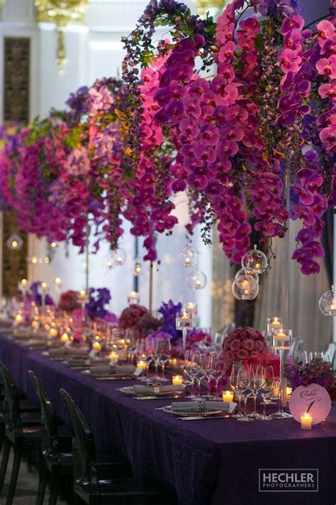 purple orchid wedding centerpieces hi miss puff