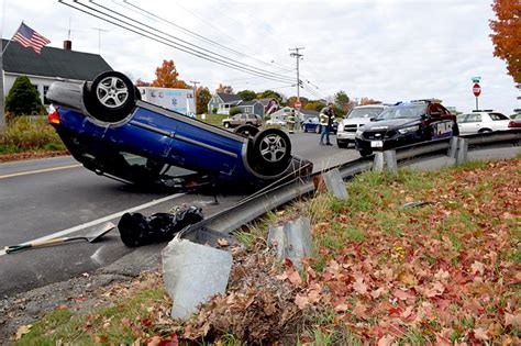 lincoln county newspaper maine subaru rolls at damariscotta intersection the