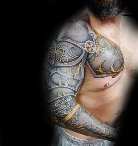 tattoo 3d armor awesome realistic 3d mens battle armor full sleeve tattoos
