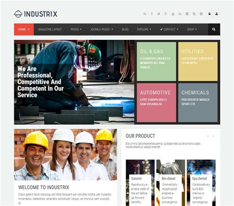 joomla themes detector industrix joomla template download review 2018