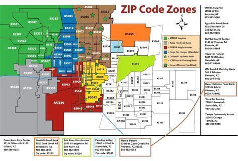 arizona zip code map az zip code map my
