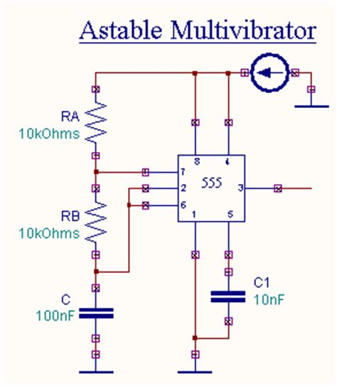 circuit diagram of astable multivibrator astable multivibrator using 555