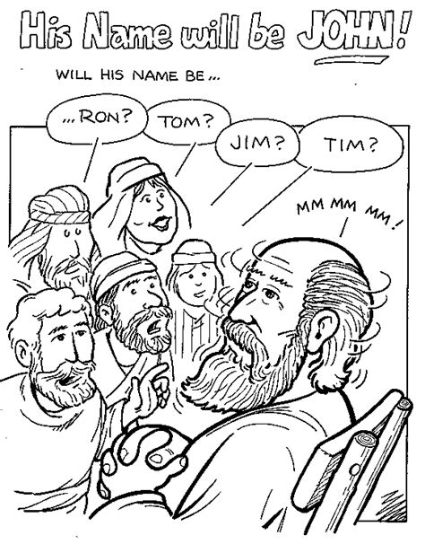 coloring page zechariah coloring zechariah and baby john google search john
