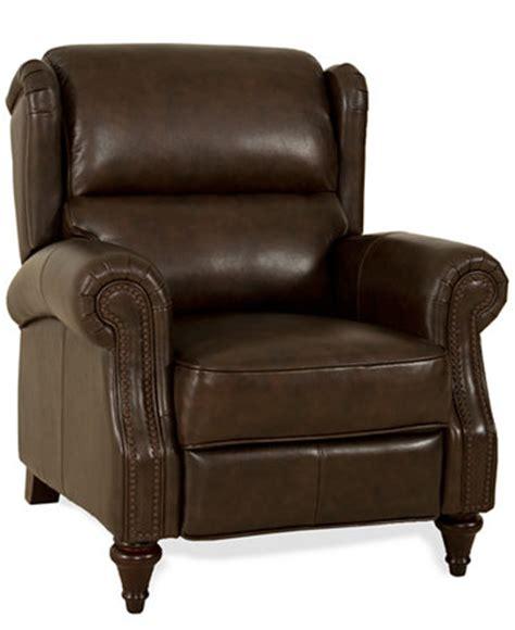 macys leather recliner wyatt leather recliner furniture macy s