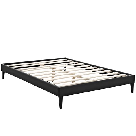 bed frame legs sharon modern queen vinyl platform bed frame with square