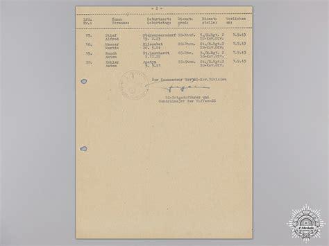 Ss Signature a signature of ss panzer commander hans fegelein third reich signed documents german
