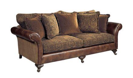 Fabric Leather Sofa Combination by Leather Sofa With Cloth Cushions Bernhardt Henri Sofa