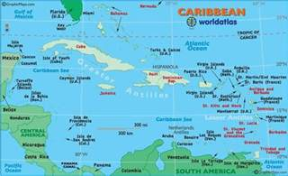 map of eastern us and bahamas caribbean map maps and globes