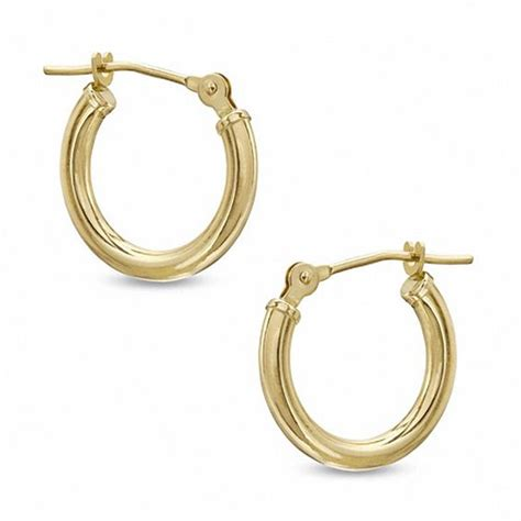 14mm hoop earrings in 14k gold gold earrings earrings