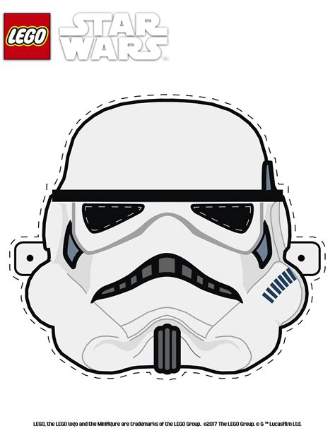 lego mask printable template lego star wars stormtrooper mask games activities