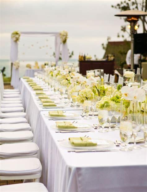 Short White Roses for formal Wedding Reception