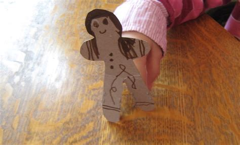 the gingerbread man printable finger puppets almost unschoolers cardboard gingerbread man puppet