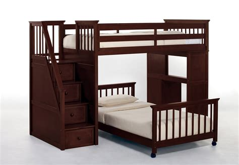 kids loft beds with stairs ne kids lower stair loft bed