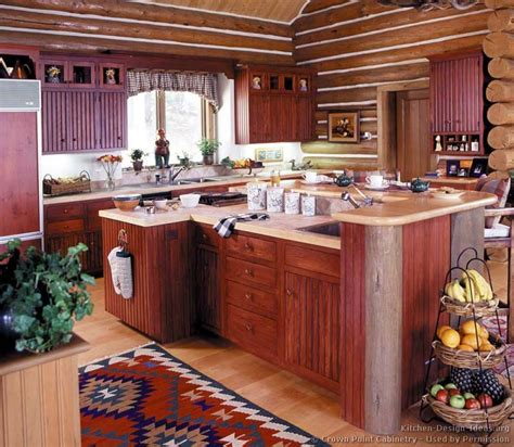kitchen island design ideas log home kitchens pictures design ideas