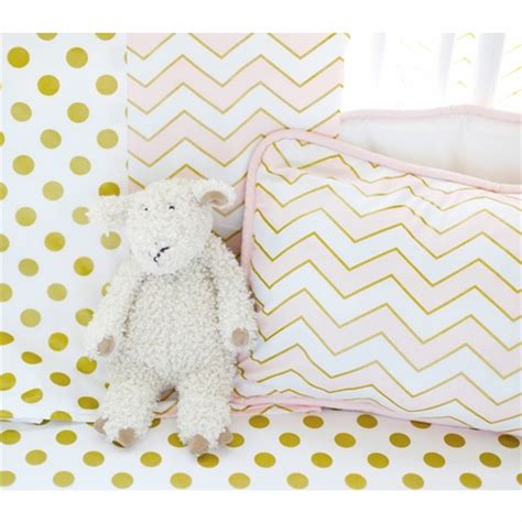 pink and gold nursery bedding gold rush pink crib bedding set by new arrivals inc