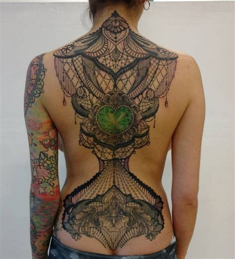 lace back tattoo 95 lace designs you never been so