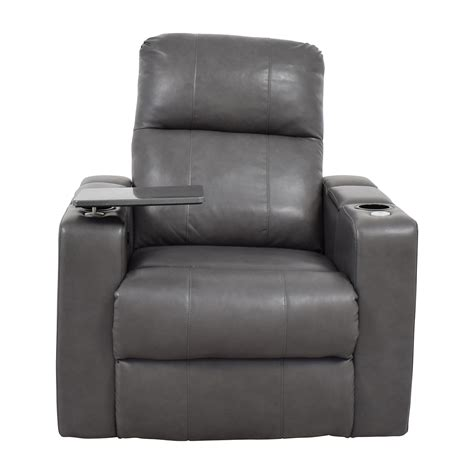 recliner with storage and usb raymour and flanigan leather recliners size of