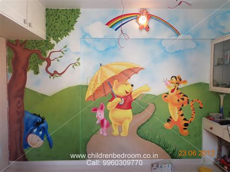 kids bedroom wall paintings children roon cartoon painting artist in pune mumbai maharashtra india