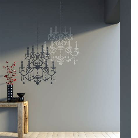 Chandelier Wall Stencil Wall Stencil Chandelier Template For Diy Decor Better Than Decals J Boutique