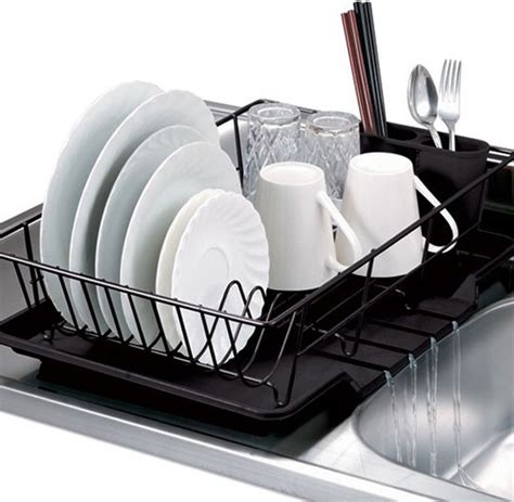 Dish Drainer Rack by Black 3 Dish Drainer Set Dish Racks By Overstock